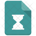 Hourglass File Document Icon
