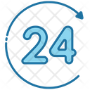 Hours 24 Hours 24 Hours Service Icon