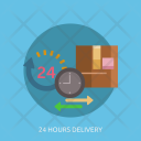 Hours Delivery Clock Icon