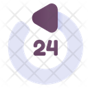 Hours Customer Service 24 Hours Service Icon