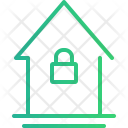 House Locked Home Icon