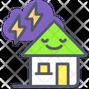 House Thunder Thunder Storm Icon