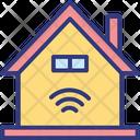 House Wifi Fidelity Wifi Signals Icon
