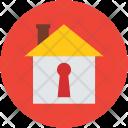 House Keyhole Locked Icon