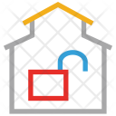 House Unlock Lock Icon
