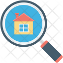 House Search Magnifier Icon