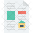 House Contract Property Icon
