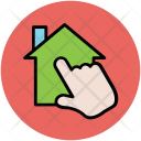 House Pointing Hand Icon