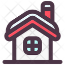 House Snow Winter Icon