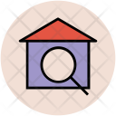 House Magnifier Find Icon