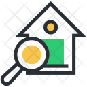 House Magnifier Search Icon