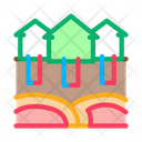 House Natural Heating Icon