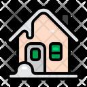 House Winter Christmas Icon