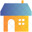 Winter Family House Icon