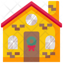 House Christmas Snowman Icon