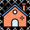 House Snowflake Winter Icon