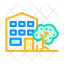 House Building Color Icon
