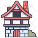 House Medieval Architecture Icon