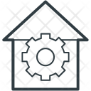 House Gear Sign Icon