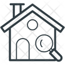 House Search Magnifying Icon