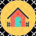 House Yard Sun Icon