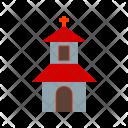 House Church Cross Icon
