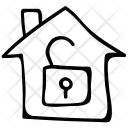 House Lock Safe Icon