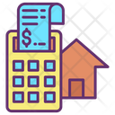 House Bills Payments House Rent Payment Rent Bill Icon