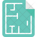 House Construction Blueprint Icon