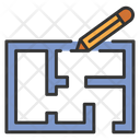 House Blueprint Blueprint Plan Icon
