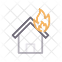 Fire House Burn Icon