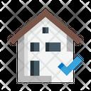 House Check Home Approve Verify Icon