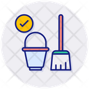 House Cleaning Sweeping Dust Icon