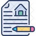 House Contract Dealership Agreement Icon