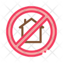 House Crossed Out Icon