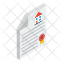House Deed House Sale Contract Agreement Icon