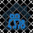 House Family Tenant Rent Icon