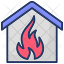 House Fire Home Burning Accident Icon