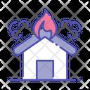 House Fire Burn Home Burn House Icon