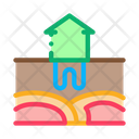 House Geothermal Heating Icon