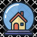 House Glass Ball House Home Icon