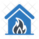 House Fire Home Icon