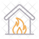 House in fire Icon
