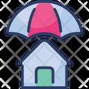 House Insurance Umbrella Home Protection Icon