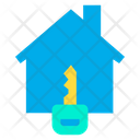 Ket House Secure House Home Key Icon