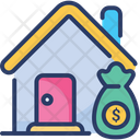House Loan Borrow Mortgage Icon