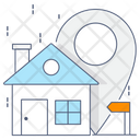 Home Location Navigation Building Location Icon