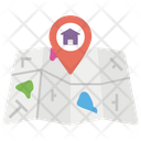 Home Location Home Address House Icon