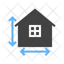 House Measurements Height Icon