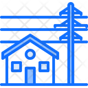 House near pole Icon